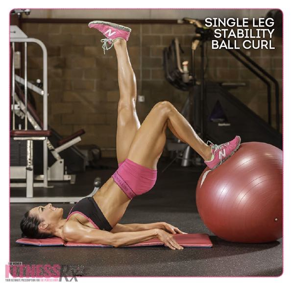 SINGLE-LEG STABILITY BALL CURL