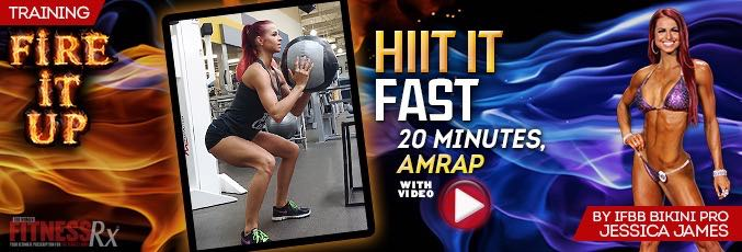 Cardio: HIIT IT FAST – 20 minutes, AMRAP With Jessica James