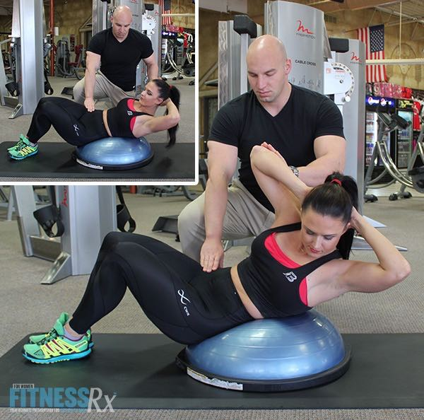 BOSU Side Rectus Abdominal Crunch