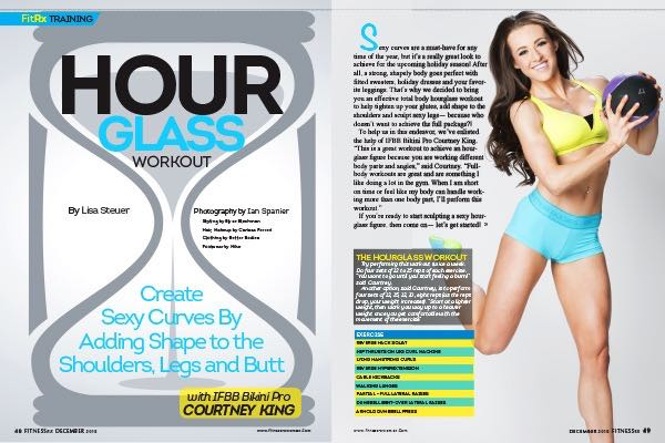 Hourglass Workout with IFBB Bikini Pro Courtney King: Create Sexy Curves By Adding Shape to the Shoulders, Legs and Butt
