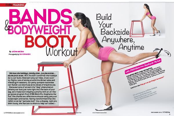 Bands & Bodyweight Booty Workout With IFBB Bikini Pro Stephanie Mahoe: Build Your Backside Anywhere, Anytime