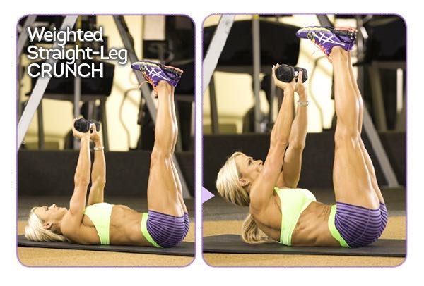 WEIGHTED STRAIGHT-LEG CRUNCH