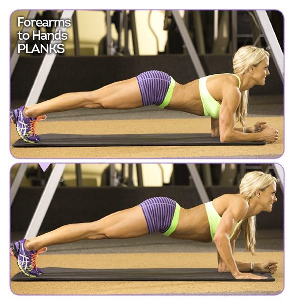 FOREARMS-TO-HANDS PLANK