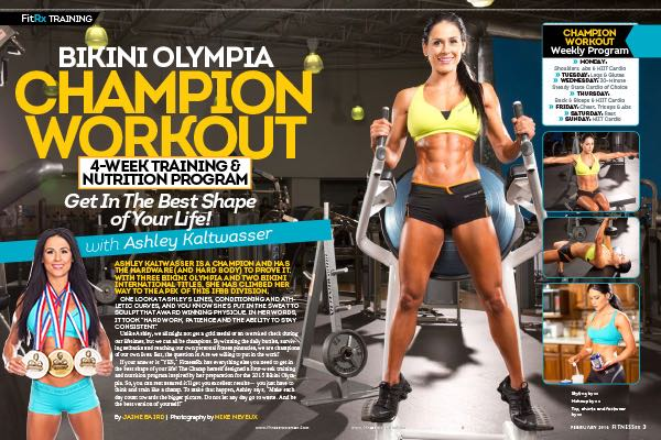 """Bikini Olympia Champion Workout with Ashley Kaltwasser— Four Week Program: Get in the Best Shape of Your Life!"""