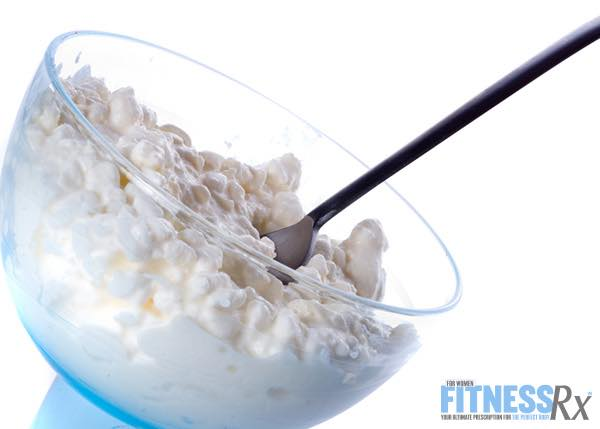 0% Fat Greek Yogurt or Cottage Cheese with Stevia or Salt and Pepper