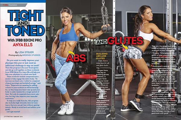 """Tight and Toned Abs and Glutes with IFBB Bikini Pro Anya Ells"""