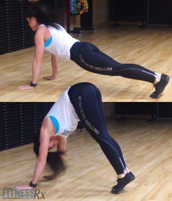 Plank V-up