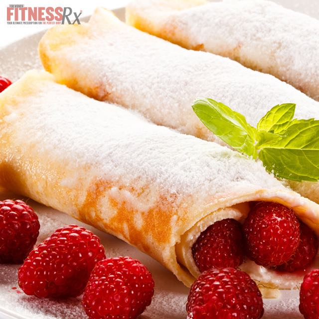 Raspberry n' Cream Stuffed Crepes