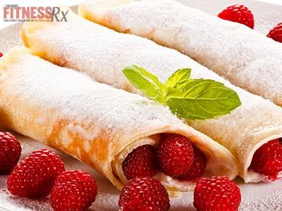 Raspberry n' Cream Stuffed Crepes
