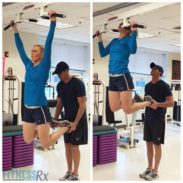 """Swolemate"" Full-body Workout - Partner-Assisted Pull-ups"