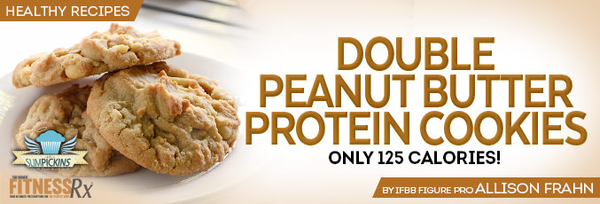 Double Peanut Butter Protein Cookies