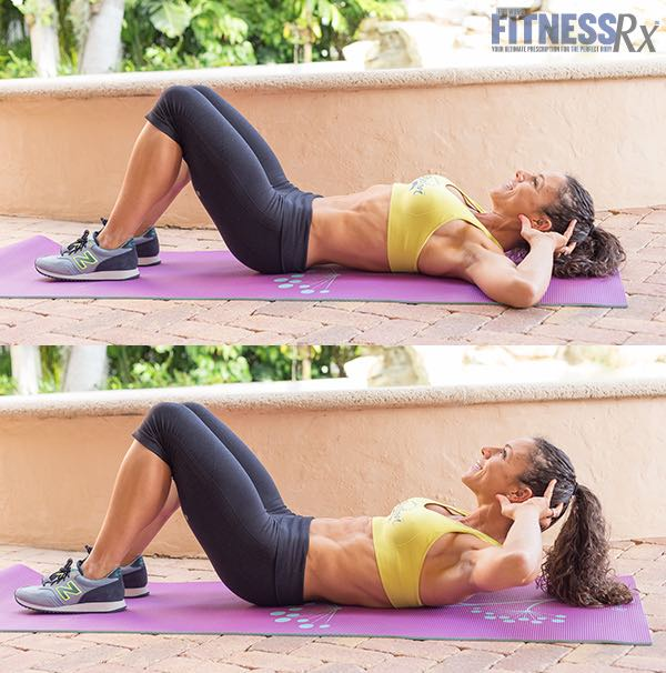 Regular Floor Crunches with a Two-second Hold at the Top