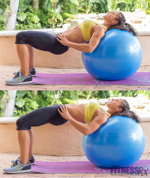 Hip Thrusts off Exercise Ball