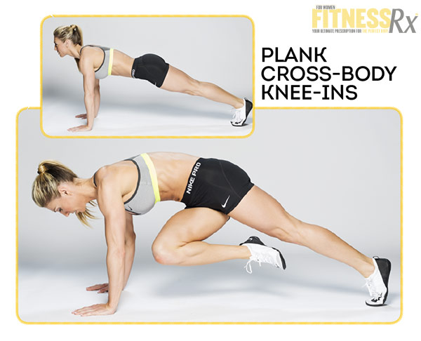 Fabulous Flat Abs With IFBB Bikini Pro Callie Bundy - Plank Cross-Body Knee-Ins