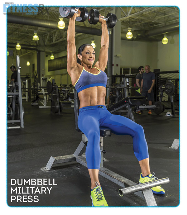 Shoulder On With IFBB Pro Candice Keene - DUMBBELL MILITARY PRESS