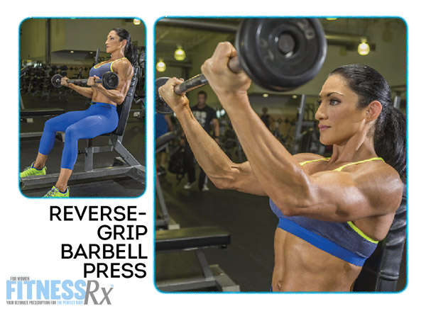 Shoulder On With IFBB Pro Candice Keene - REVERSE-GRIP BARBELL PRESS