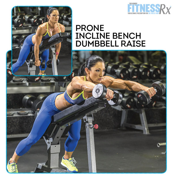 Shoulder On With IFBB Pro Candice Keene - PRONE INCLINE BENCH DUMBBELL RAISE