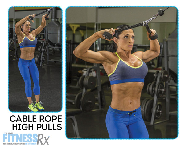 Shoulder On With IFBB Pro Candice Keene - CABLE ROPE HIGH PULLS