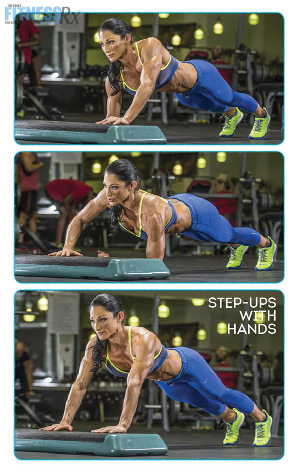 Shoulder On With IFBB Pro Candice Keene - STEP-UPS WITH HANDS