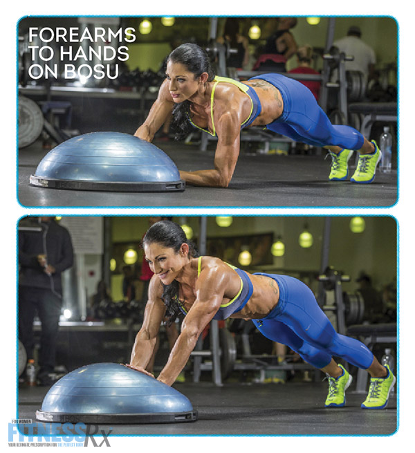 Shoulder On With IFBB Pro Candice Keene - FOREARMS TO HANDS ON BOSU