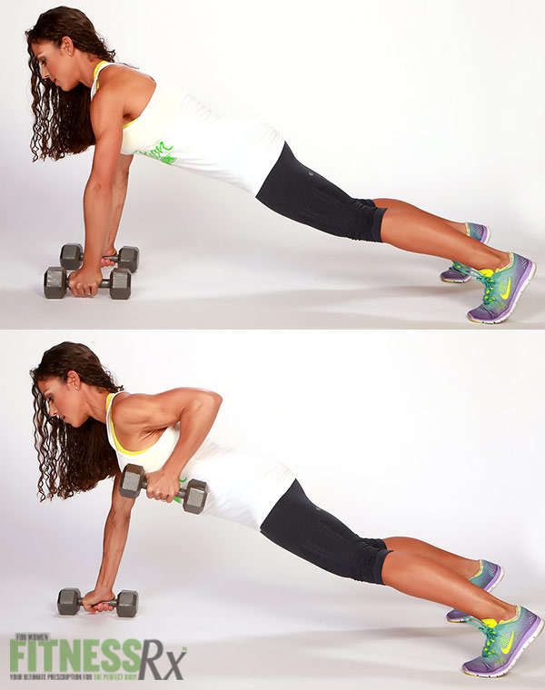 Plank One-Arm Rows