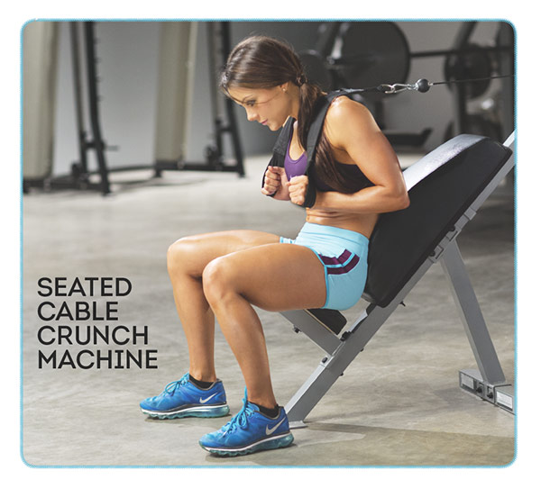 Sculpted Summer Abs With IFBB Pro Jessica Renee - Seated Cable Crunch Machine