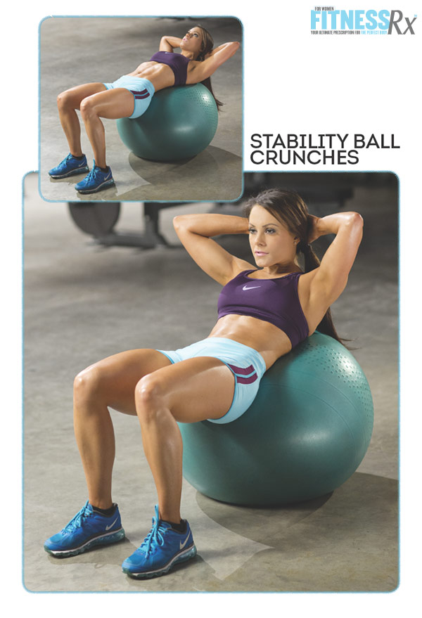 Sculpted Summer Abs With IFBB Pro Jessica Renee - Stability Ball Crunches