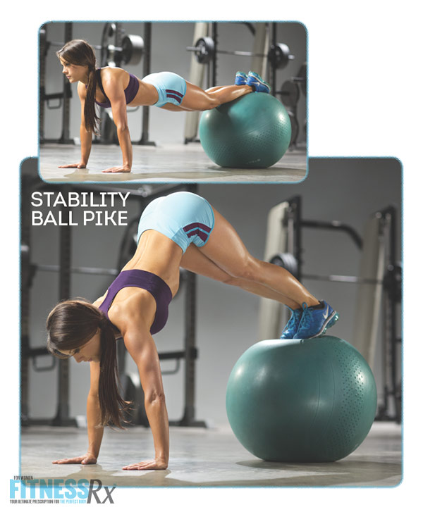 Sculpted Summer Abs With IFBB Pro Jessica Renee - Stability Ball Pike