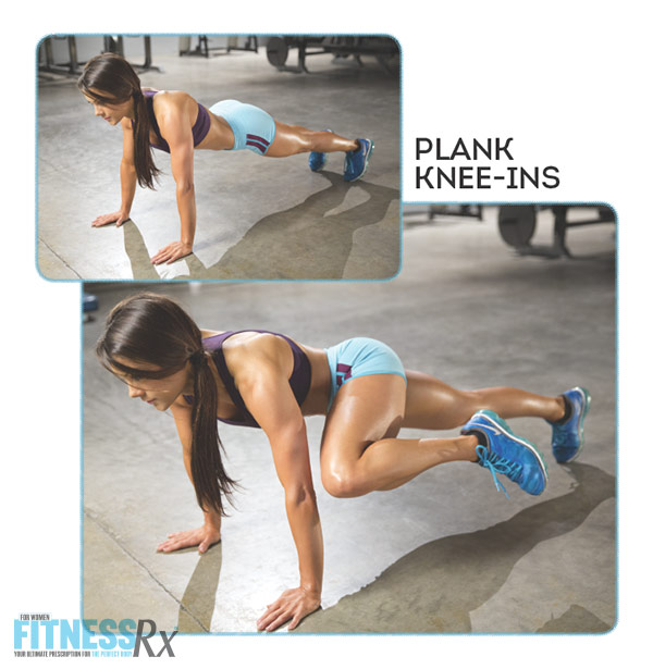 Sculpted Summer Abs With IFBB Pro Jessica Renee - Plank Knee-ins