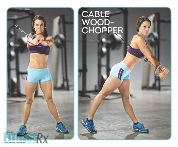 Sculpted Summer Abs With IFBB Pro Jessica Renee - Cable Wood Chopper
