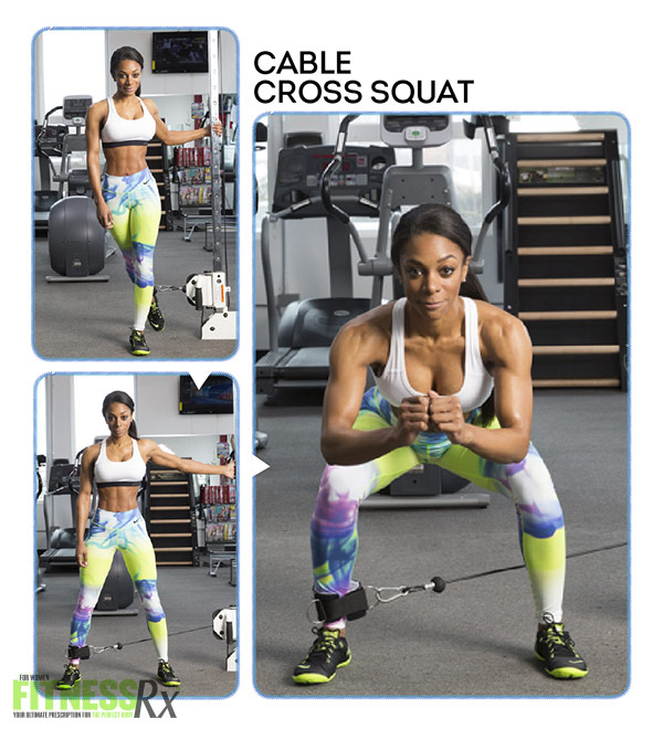 Bikini Booty Workout CABLE CROSS SQUAT