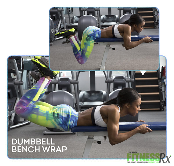 Bikini Booty Workout DUMBBELL BENCH WRAP