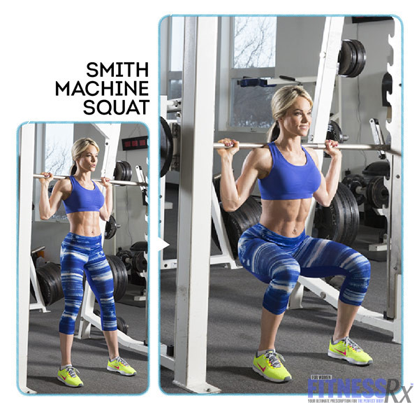 High-Intensity 4-Week Transformation Plan - Explosive Training With Justine Munro - Smith Machine Squat