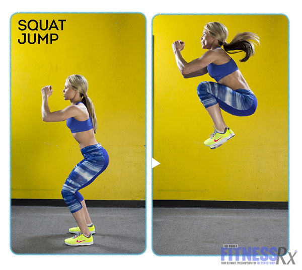High-Intensity 4-Week Transformation Plan - Explosive Training With Justine Munro - Squat Jump