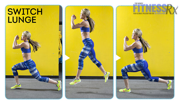 High-Intensity 4-Week Transformation Plan - Explosive Training With Justine Munro - Switch Lunge