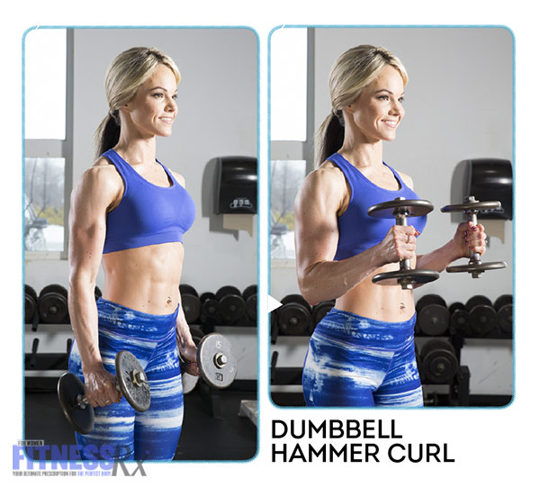 High-Intensity 4-Week Transformation Plan - Explosive Training With Justine Munro - Dumbbell Hammer Curl