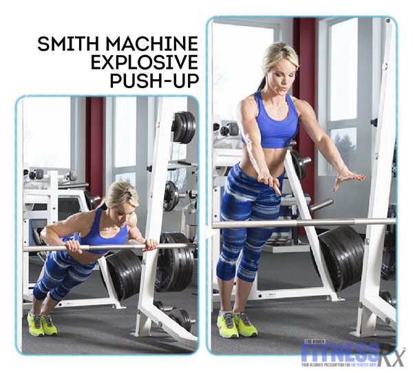 High-Intensity 4-Week Transformation Plan - Explosive Training With Justine Munro - Smith Machine Explosive Push-up