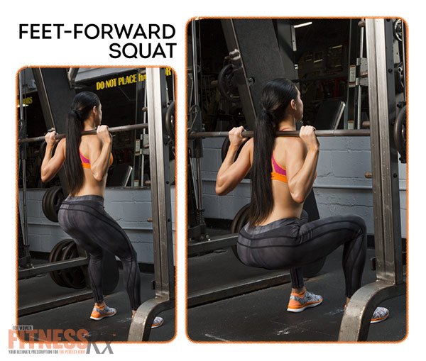 Become A Glute-Smith - Feet-Forward Squat
