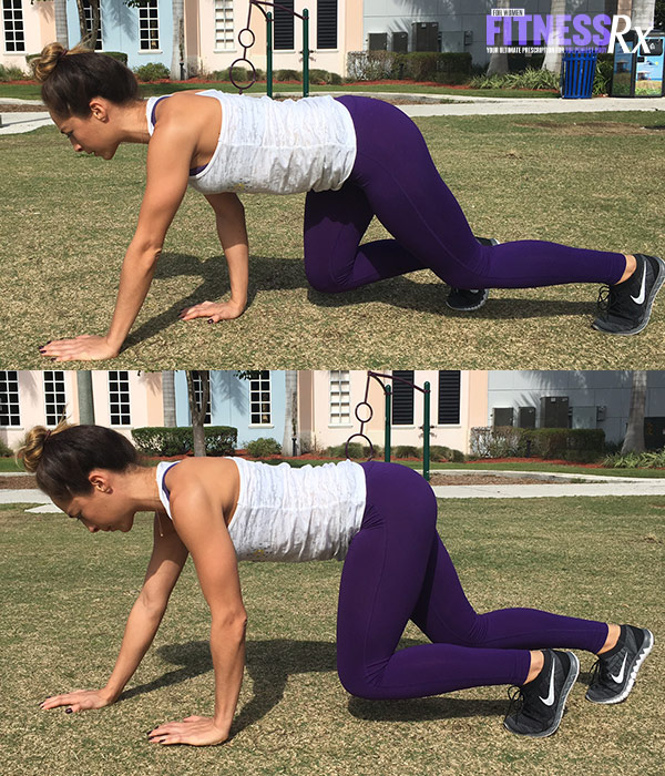 Outdoor Cardio and Bodyweight Circuit - Tiger Crawl
