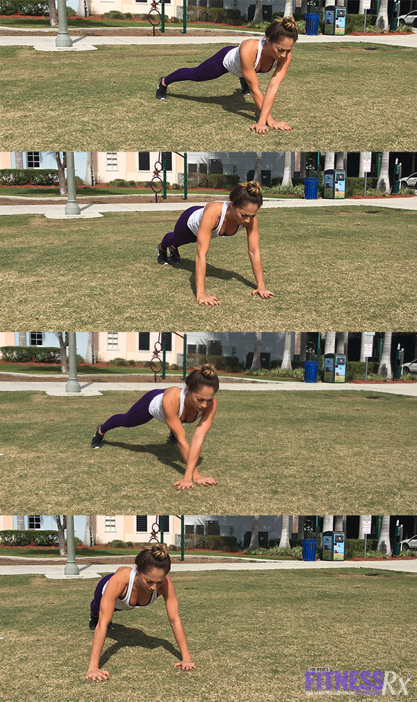Outdoor Cardio and Bodyweight Circuit - Spider Crawl