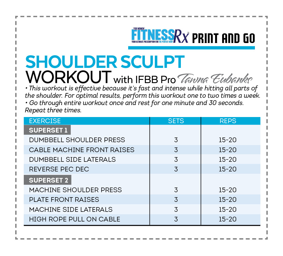 SHOULDER SCULPT - Quick and Intense Volume Workout with IFBB Bikini Pro Tawna Eubanks