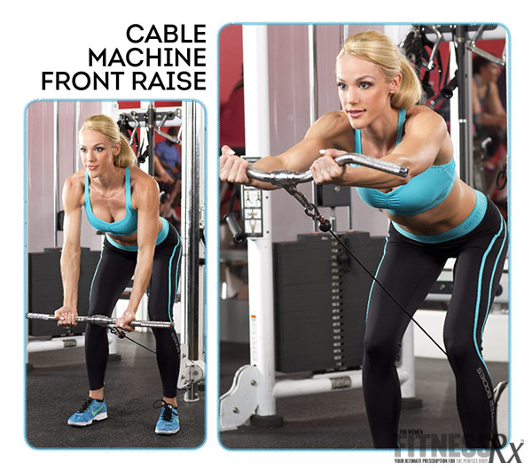 Cable Machine Front Raises