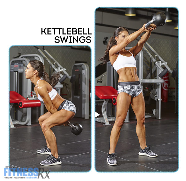 Tight and Toned Abs and Glutes With IFBB Bikini Pro Anya Ells - Kettlebell Swing