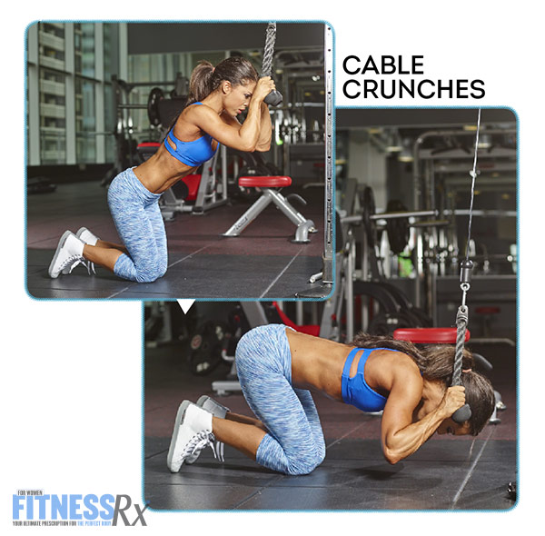 Tight and Toned Abs and Glutes With IFBB Bikini Pro Anya Ells - Cable Crunches