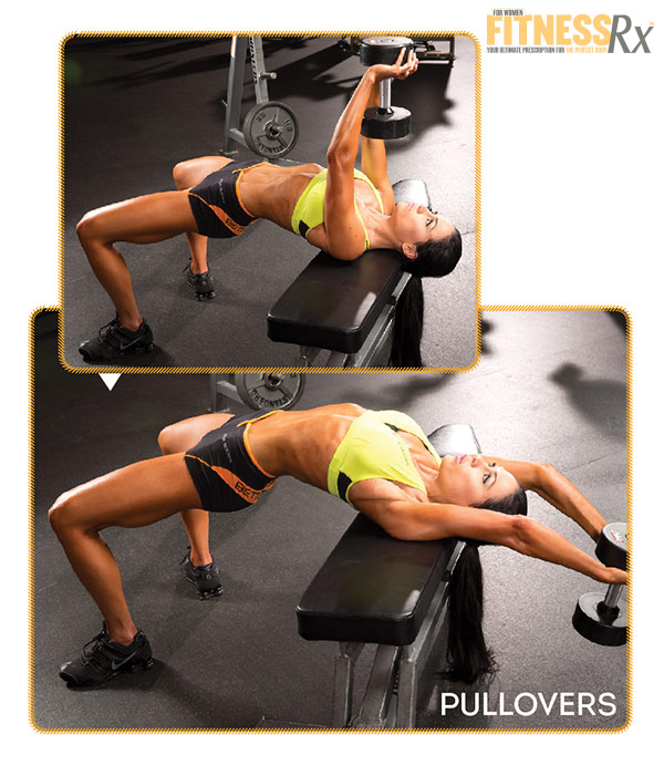 Best Shape Of Your Life Workout With Ms. Bikini Olympia Ashley Kaltwasser - Part 3: Back and Biceps -Pullovers