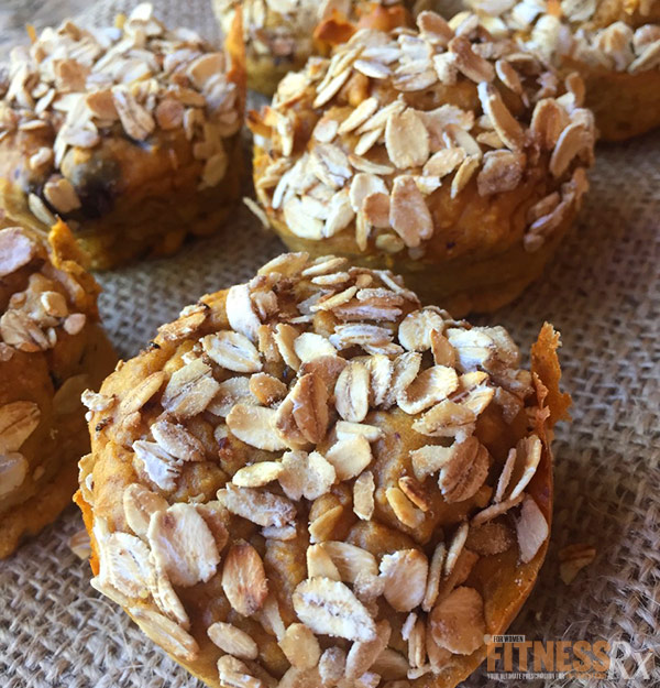 Peanut Butter Pumpkin Spice Toasted Oat Muffins