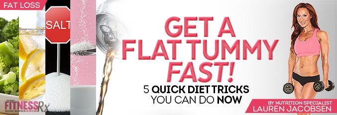 Get A Flat Tummy Fast!