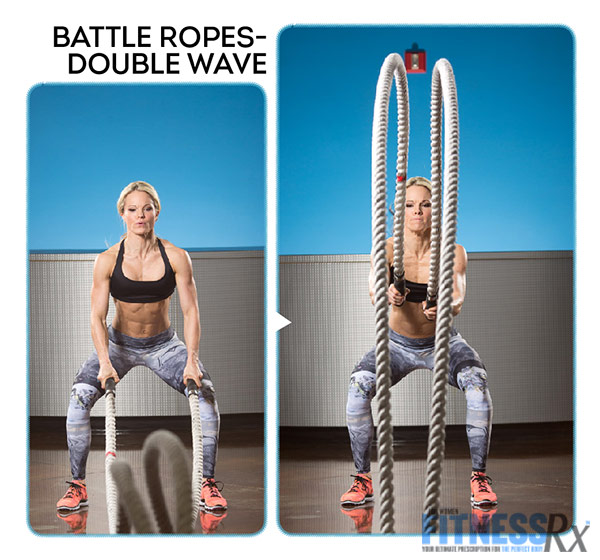 Get Sculpted and Lean with Ropes and Resistance - With IFBB Bikini Pro Justine Munro - Battle Ropes Double Wave