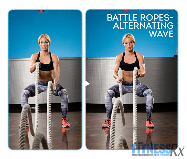 Get Sculpted and Lean with Ropes and Resistance - With IFBB Bikini Pro Justine Munro - Battle Ropes Alternating Wave