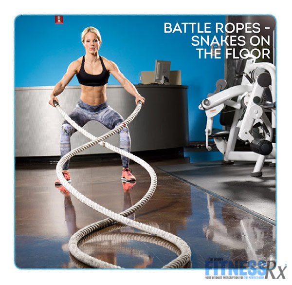 Get Sculpted and Lean with Ropes and Resistance - With IFBB Bikini Pro Justine Munro - Battle Ropes Snakes on the floor
